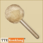 Gong beater d3Hm2 - with beech wood handle (heavy & short)