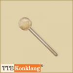 Gong beater d6Hm4 - with beech wood handle Ø 60 mm soft