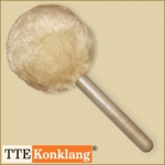 Gong beater CK_d2Hm1 - with beech wood handle (heavy & short) with fur hat