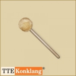 Gong beater d7Hm3 - with beech wood handle Ø 70 mm soft